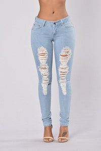 Catty Distressed Denim Jeans