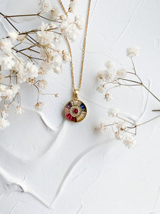 Color Circle Necklace
