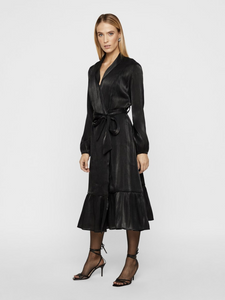 Yasfluxo Midi Dress Party, black w/shimmer