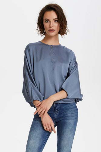 Veria Blouse 3/4, flint stone