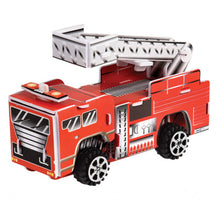 Load image into Gallery viewer, Make Your Own Pull Back Fire Engine