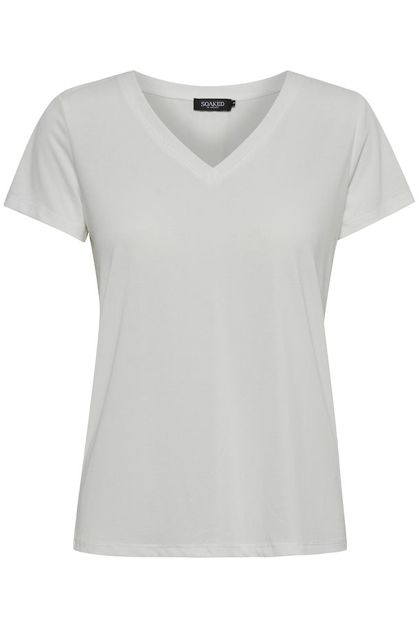 Columbine V-neck, broken white