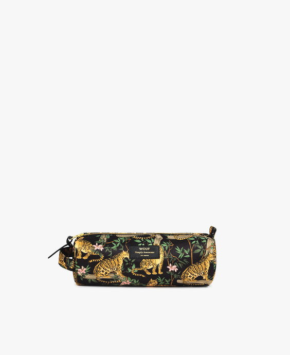 Black Lazy Jungle Pencil Case
