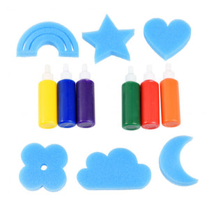 Sponge Painting Set, magic rainbow
