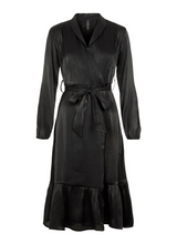 Load image into Gallery viewer, Yasfluxo Midi Dress Party, black w/shimmer
