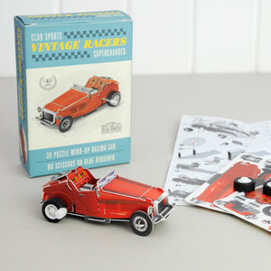 Make Your Own Wind Up Car, red