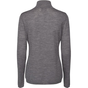Rose Knit Roll Neck, light grey melange