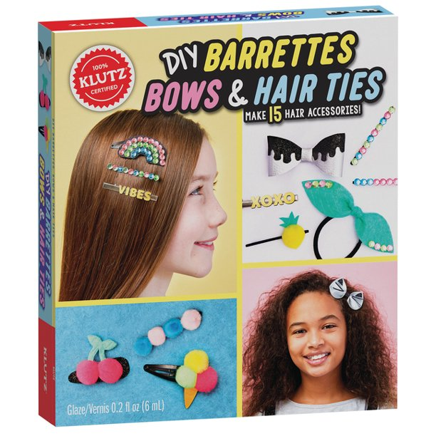 KLUTZ DIY BARRETTES BOWS & HAIR TIES