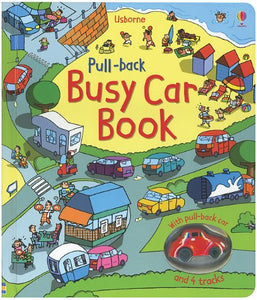 USBORNE PULL BACK BUSY CAR BOOK