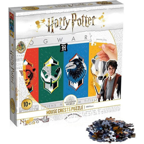 1 HARRY POTTER HOUSE CRESTS PUZZLE 500PC