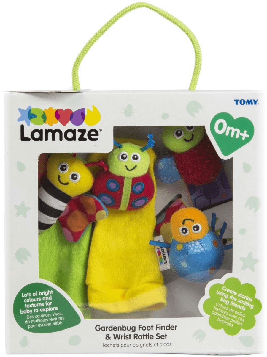 LAMAZE GARDENBUG FOOT FINDER & WRIST RATTLE SET