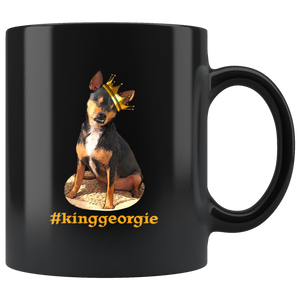 King Georgie Black 11oz Mug