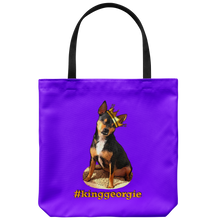 Load image into Gallery viewer, King Georgie Tote Bag Orange Lettering  (additional colors available)