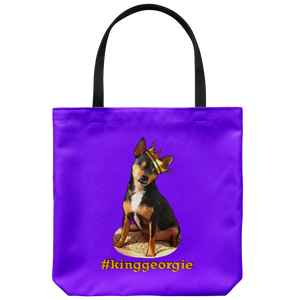 King Georgie Tote Bag Orange Lettering  (additional colors available)