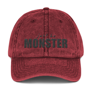 Just Be MONSTER Vintage Baseball Cap - Red