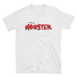 Just Be MONSTER Red Brush Short Sleeve Tee - White