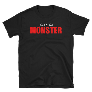 Just Be MONSTER Blood Short Sleeve Tee - Black