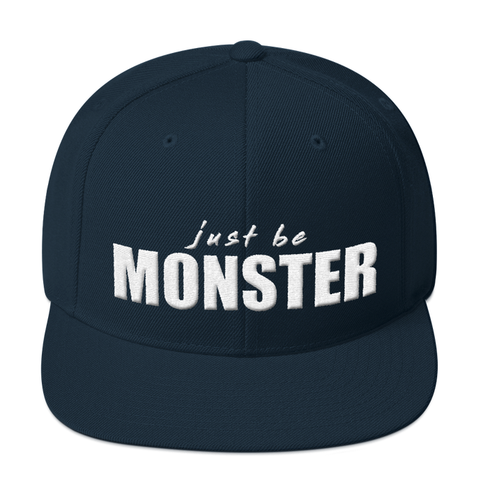 Just Be MONSTER Snapback Hat - Blue