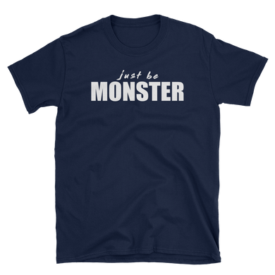 Just Be MONSTER Short Sleeve Tee - Blue