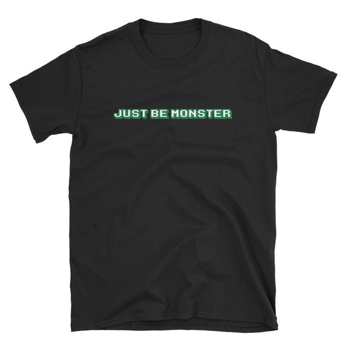 Just Be MONSTER Game Over, Short Sleeve Tee - Black
