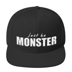 Just Be MONSTER Snapback Hat - Black