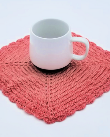 Diba's Crocheted Pink Doily