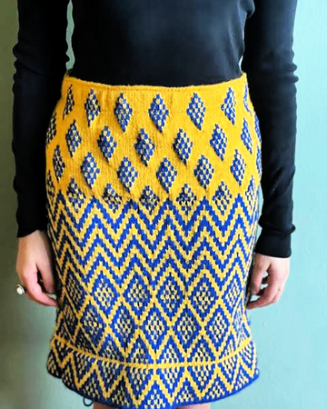 Julie's Knitted Patterned Skirts
