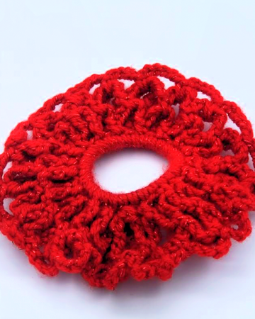 Diba's Crocheted Fabric Scrunchies