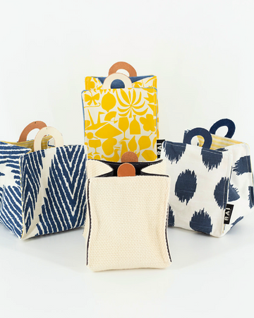 Handcrafted Fabric Cubes with Handles