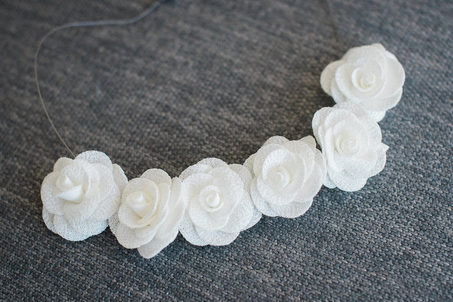 Pearl White Flower Necklace