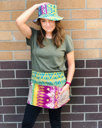 Reversible Bucket Hat and Pocket Apron