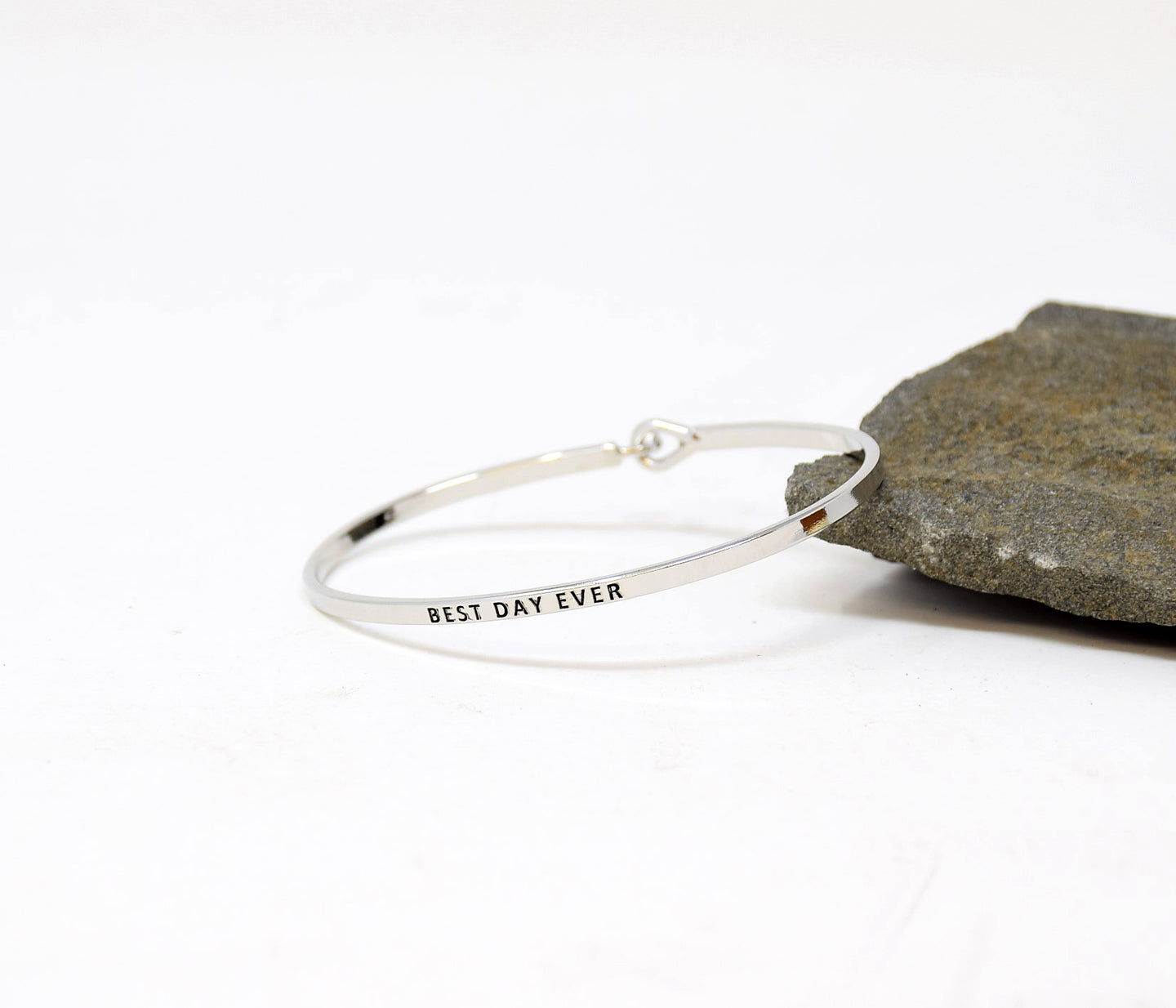 Best day ever - Bracelet Bangle with Message for Women Girl Daughter Wife Holiday Anniversary Special Gift