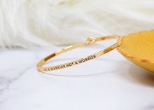 Load image into Gallery viewer, Be a warrior not a worrier - Bracelet Bangle with Message for Women Girl Daughter Wife Holiday Anniversary Special Gift