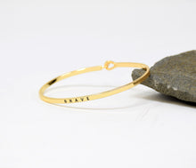 Load image into Gallery viewer, Brave - Bracelet Bangle with Message for Women Girl Daughter Wife Holiday Anniversary Special Gift