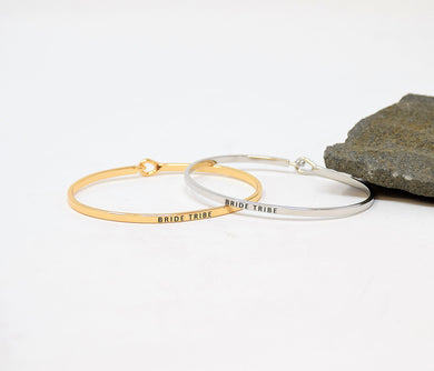 Bride tribe - Bracelet Bangle with Message for Women Girl Daughter Wife Holiday Anniversary Special Gift