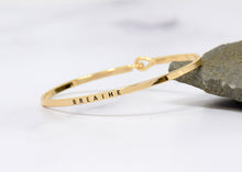 Load image into Gallery viewer, Breathe - Bracelet Bangle with Message for Women Girl Daughter Wife Holiday Anniversary Special Gift