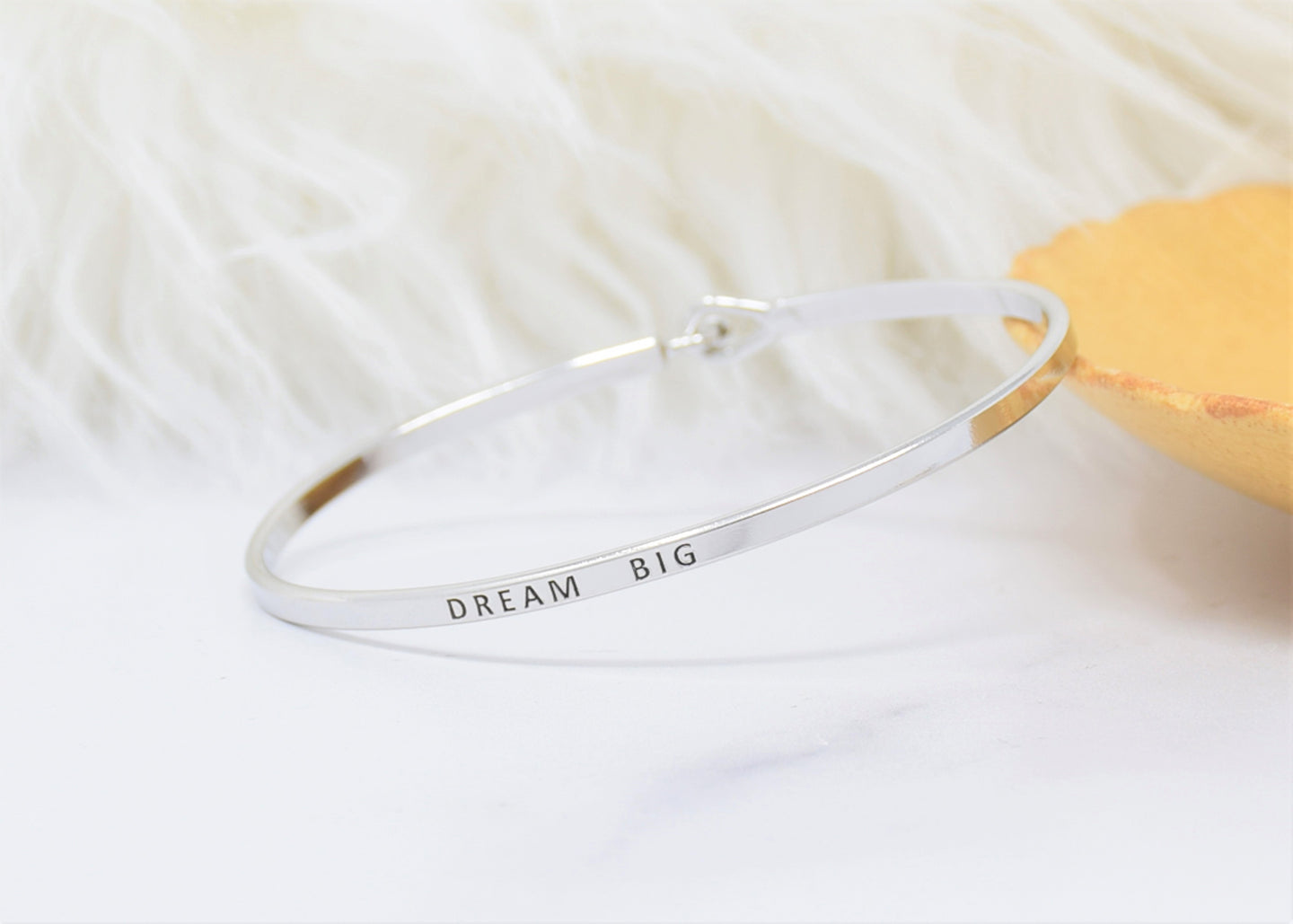 Dream Big - Bracelet Bangle with Message for Women Girl Daughter Wife Holiday Anniversary Special Gift