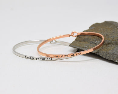 Dream by the Sea - Bracelet Bangle with Message for Women Girl Daughter Wife Holiday Anniversary Special Gift