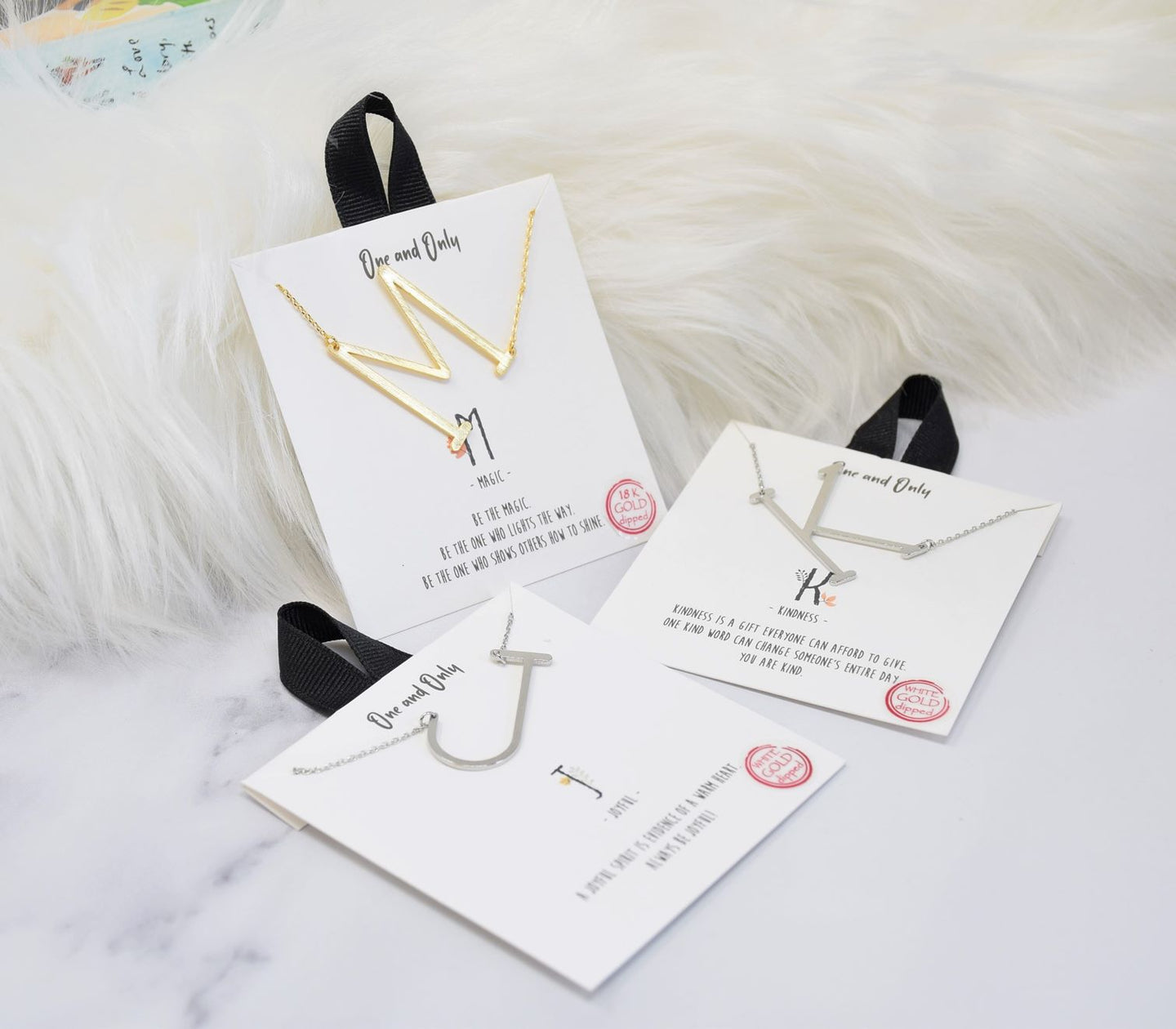 One and Only Sideways Monogram Necklace (Premium)