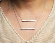 Load image into Gallery viewer, Engraved H-Bar Necklace | V.II