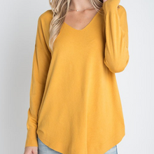 Load image into Gallery viewer, Back Lace Sweater - Mustard