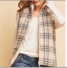 Load image into Gallery viewer, Plaid Puffer Vest