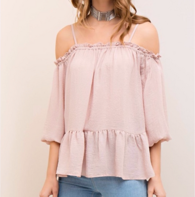 Off Shoulder Pale Pink top
