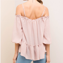 Load image into Gallery viewer, Off Shoulder Pale Pink top