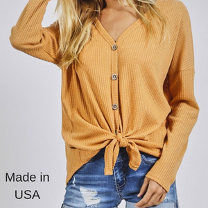 Tie Front Thermal Top