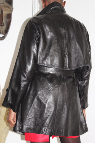 Trench en cuir 90's (Made in France)