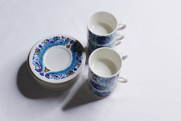 Service 6 tasses à café Villeroy & Boch (made in Luxembourg)