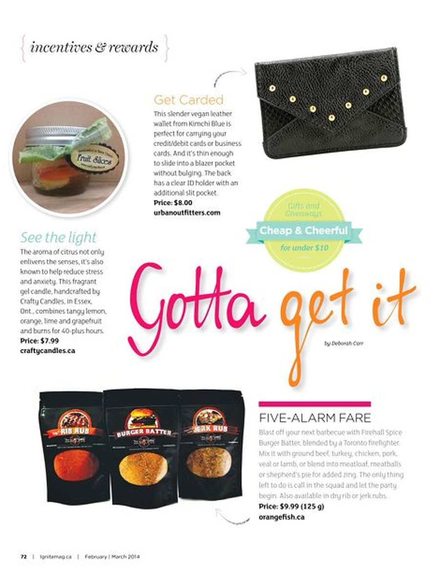 Ignite Magazine - In the Know - Gotta Get It - Fire in the Kitchen Spices