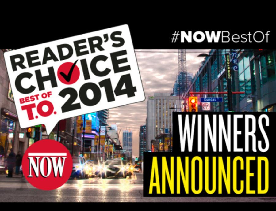 Now Toronto  Readers Choice - 2014 - Winners Announced