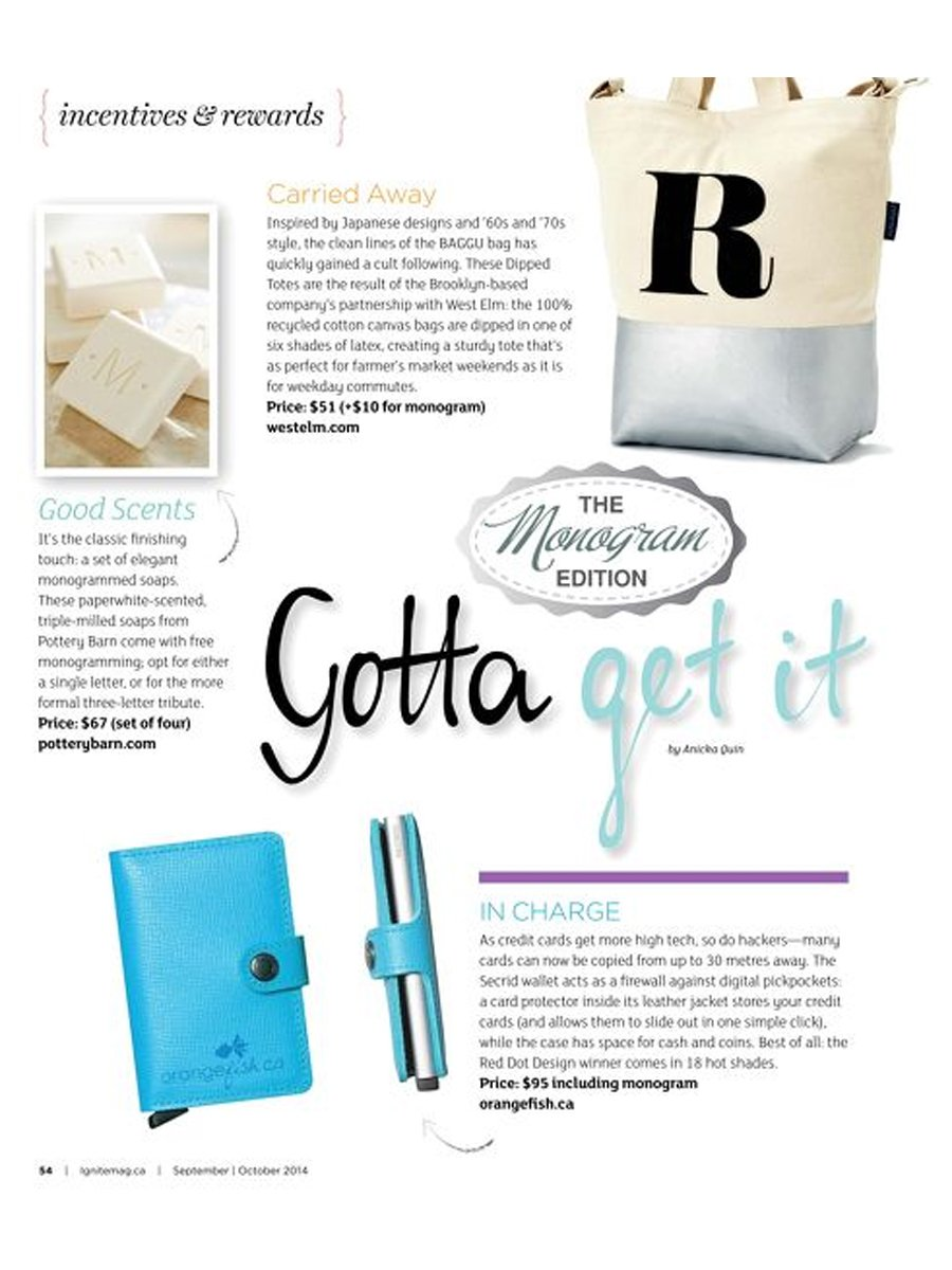Ignite Magazine - Live It Up Electrify - Gotta Get It - Secrid Wallet
